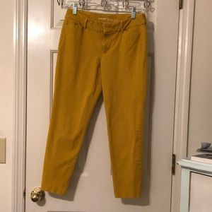 Old Navy Pixie Mid-Rise Mustard Pants